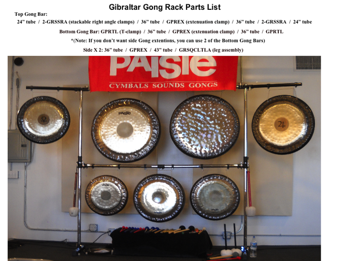 Gong Rack Parts